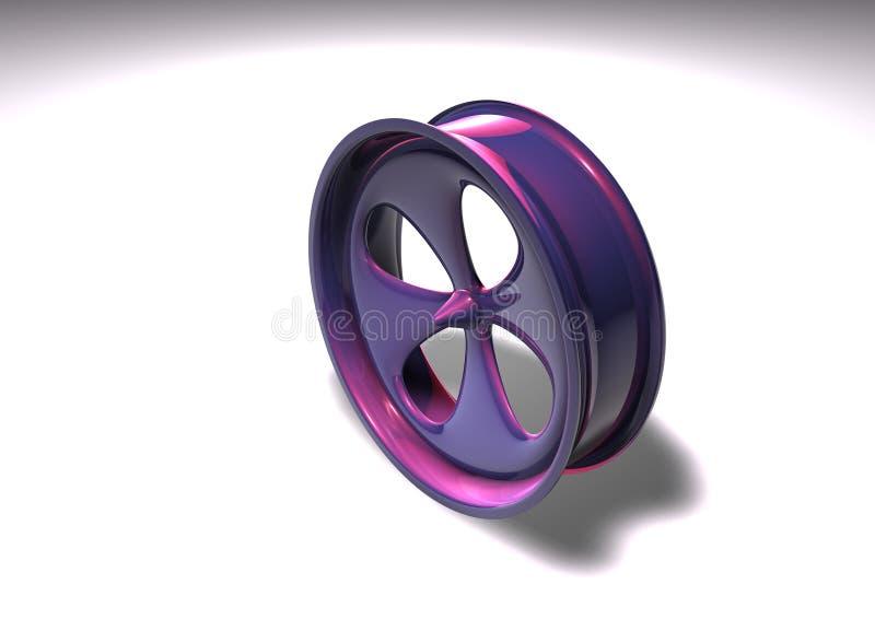La rueda pulió ilustración del vector