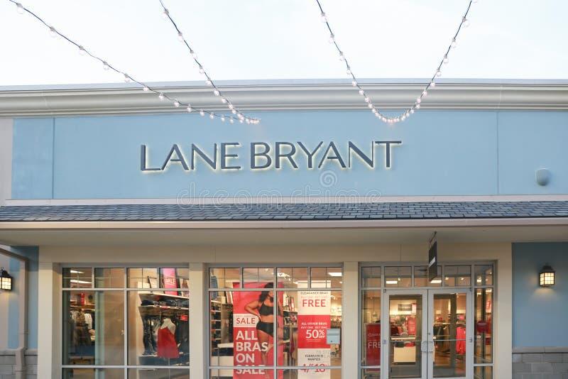 La ruelle Bryant est une chaîne de magasins de vente au détail des magasins image libre de droits