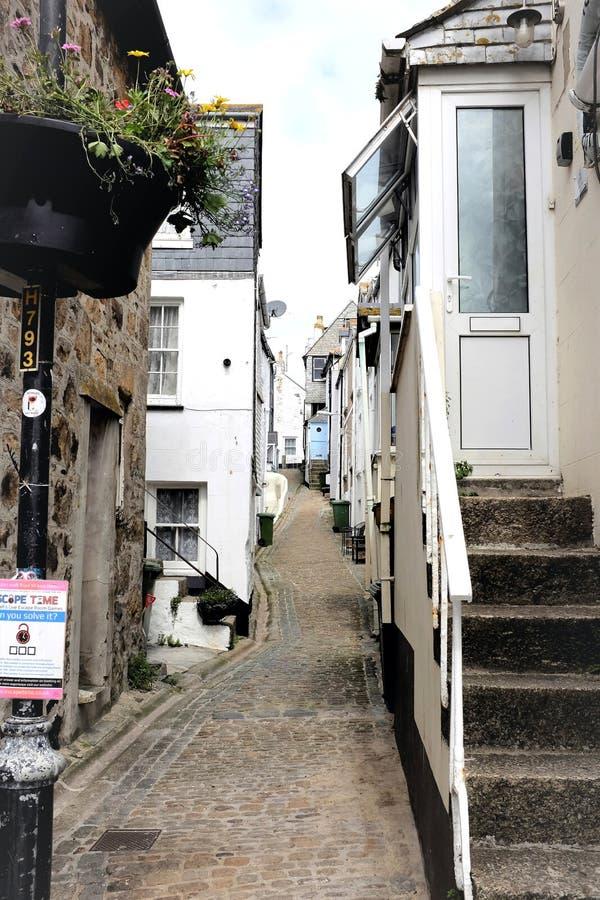 La ruelle de Bailey, St Ives, les Cornouailles, R-U image libre de droits