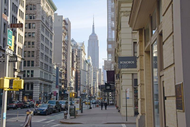 La ruelle de vélo sur Fifth Avenue photos stock