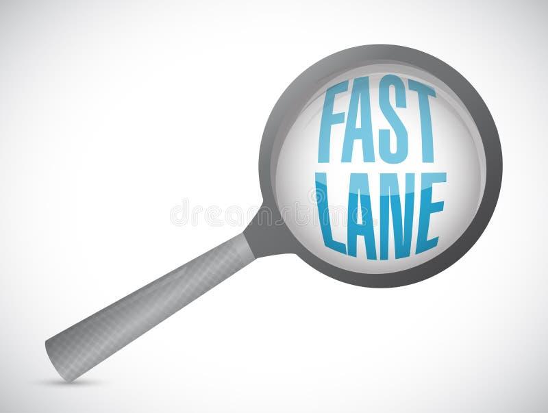 La ruelle rapide magnifient l'illustration en verre de concept illustration de vecteur