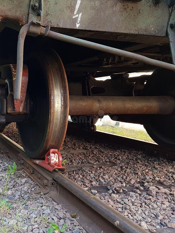La ruota del treno immagine stock libera da diritti