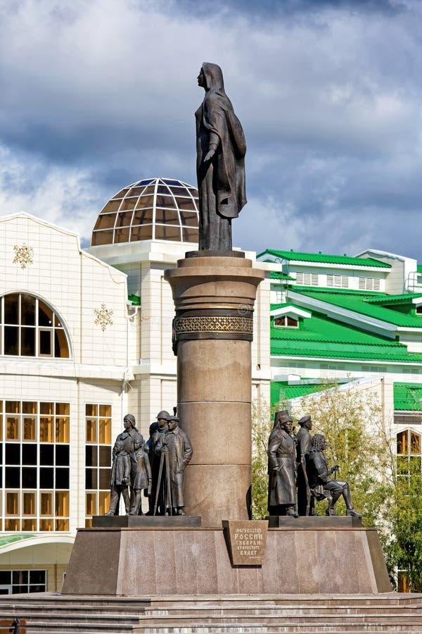 La Russia, Chanty-Mansijsk, un monumento fotografie stock
