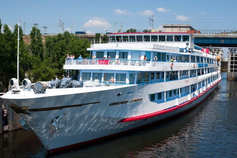 La Russia, fissa il fiume Volga fotografia stock