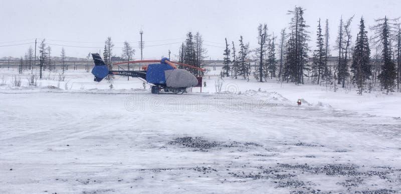 La Russia, il Nord estremo, inverno, neve fotografia stock libera da diritti