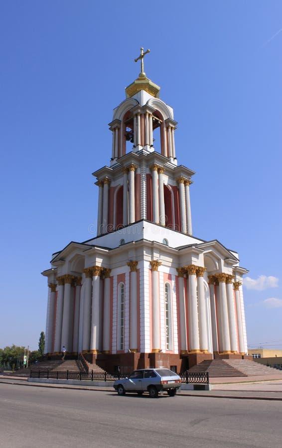La Russia Kursk Il tempio di grande martire George, che fa parte della battaglia complessa commemorativa di Kursk fotografie stock libere da diritti
