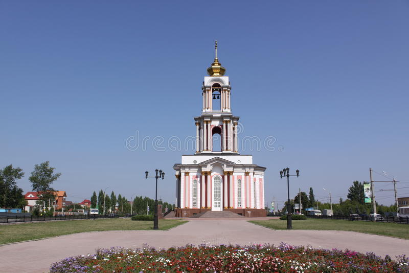 La Russia Kursk Il tempio di grande martire George, che fa parte della battaglia complessa commemorativa di Kursk immagine stock libera da diritti