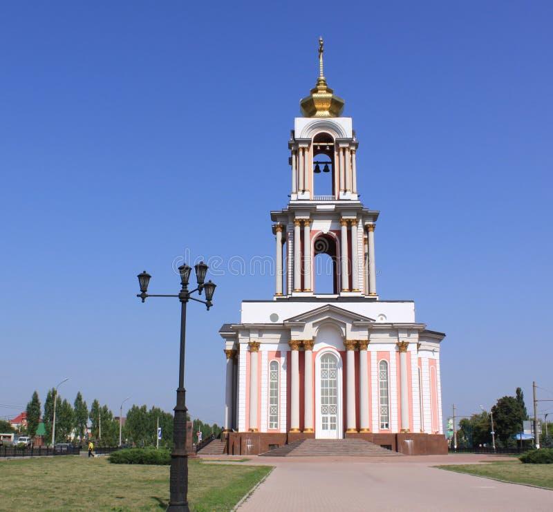 La Russia Kursk Il tempio di grande martire George, che fa parte della battaglia complessa commemorativa di Kursk immagine stock