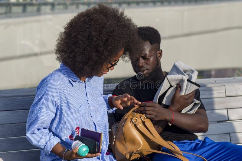 La Russia, Mosca, il 4 agosto 2018, studenti afroamericani, editoriali fotografia stock