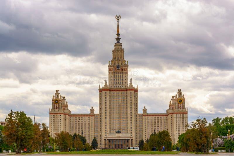 La Russia, Mosca, il 13 giugno 2017 - la costruzione dell'università di Stato di Mosca immagine stock