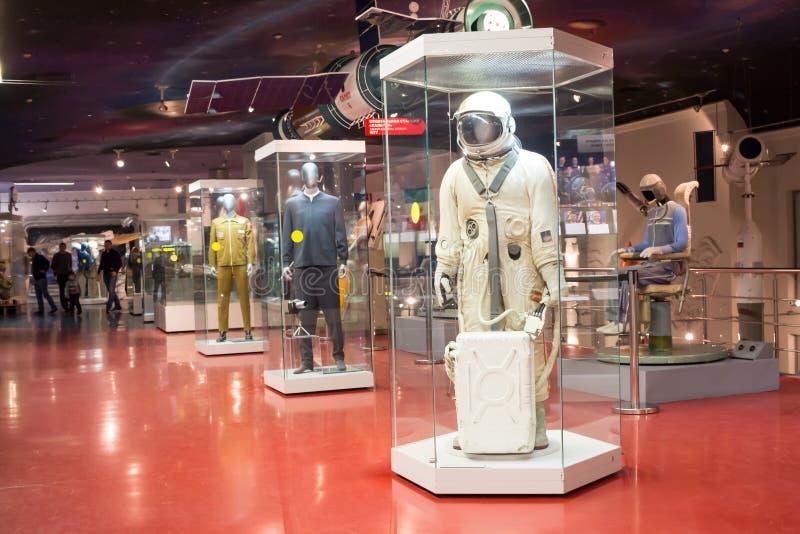 La Russia, Mosca, museo di cosmonautica immagini stock