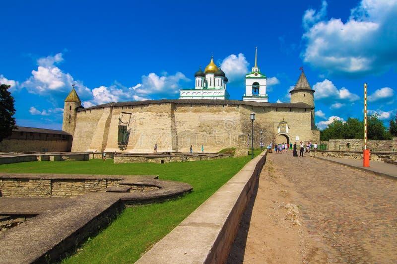 La Russia, Pskov Pskov Krom, o Cremlino di Pskov immagine stock