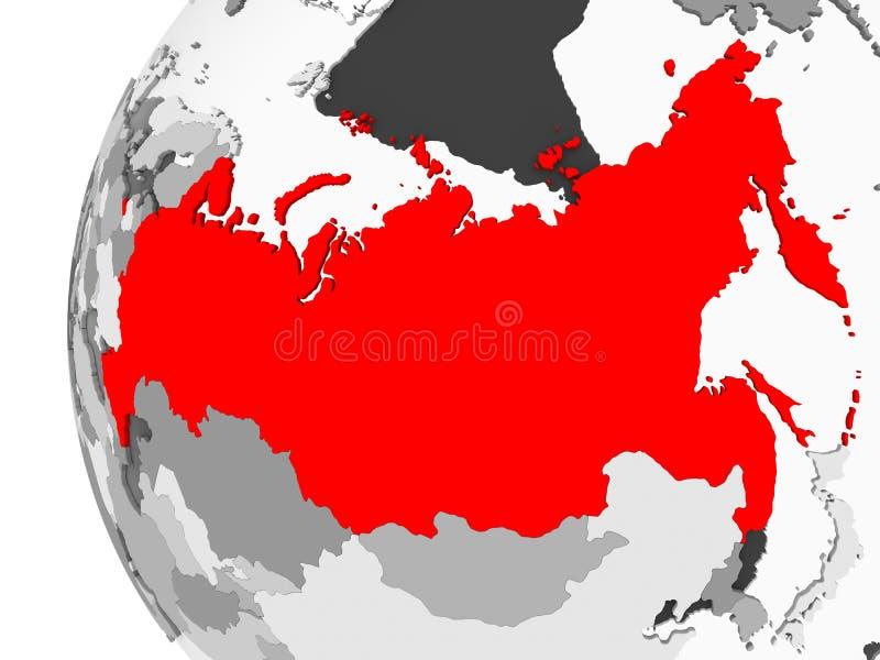 La Russia sul globo grigio illustrazione di stock