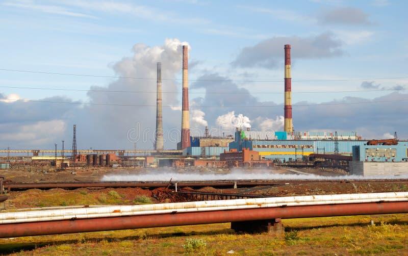 La Russia. Taimyr. Norilsk. Disastro ecologico immagine stock libera da diritti