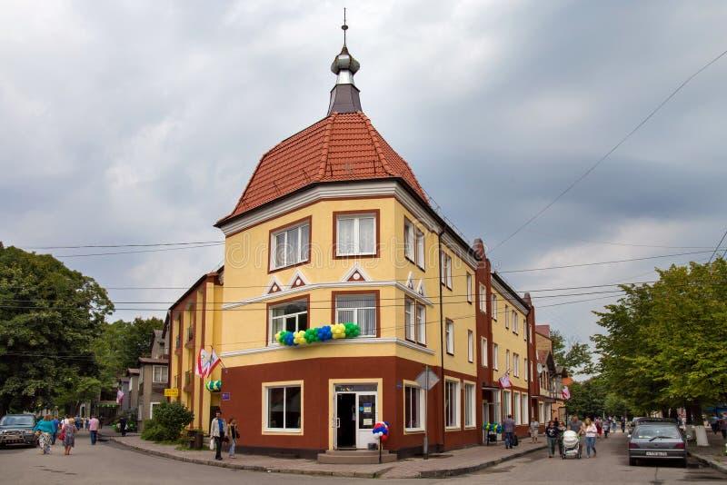 LA RUSSIA, ZELENOGRADSK - 3 SETTEMBRE 2016: Vecchia casa tedesca in Zelenogradsk ( Cranz) immagini stock
