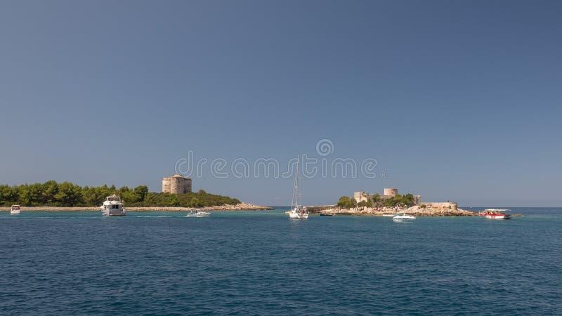 La Russie Île dans la baie de Kotor, Monténégro image libre de droits