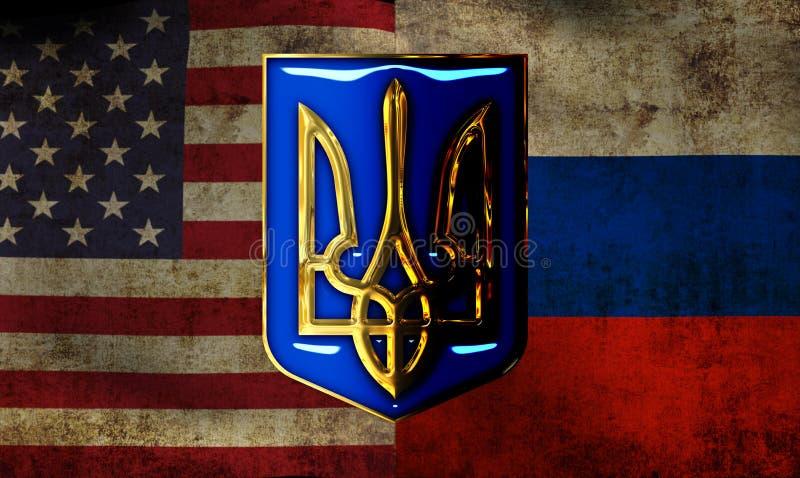 La Russie contre les Etats-Unis image stock