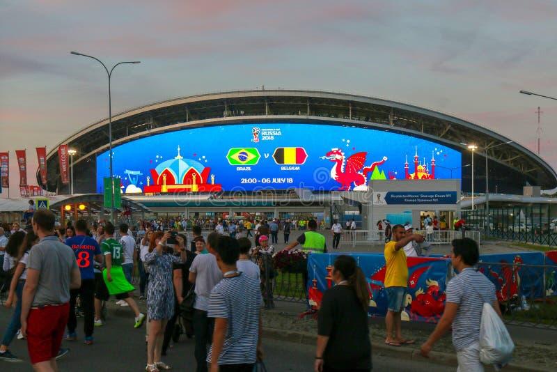La Russie, Kazan - 6 juillet 2018 : Stade d'arène de Kazan Lieu de rendez-vous fi 2018 images libres de droits