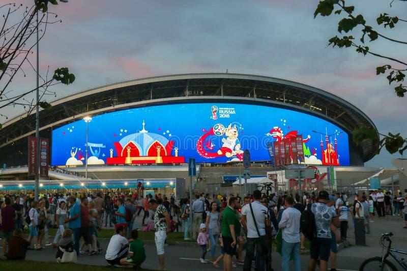 La Russie, Kazan - 6 juillet 2018 : Stade d'arène de Kazan Lieu de rendez-vous fi 2018 photographie stock libre de droits