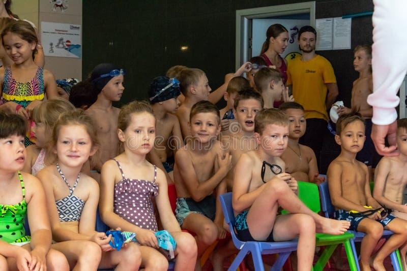 La Russie, Khabarovsk - 31 août 2018 : jour de Neptune de vacances du ` s d'enfants photo libre de droits