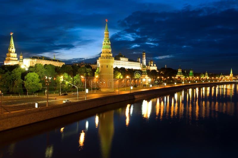 La Russie Kremlin et fleuve à Moscou photographie stock libre de droits
