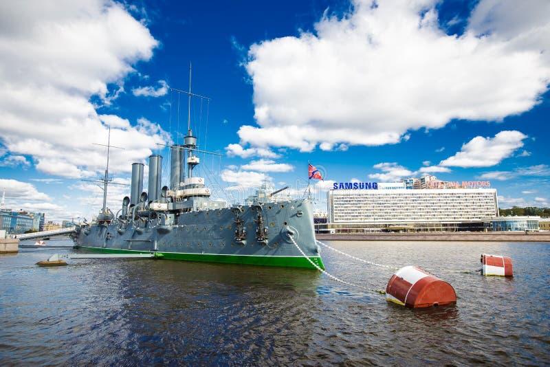 La Russie, marine, neva, marine, cuirassé, révolution, bateau, rivière, photographie stock