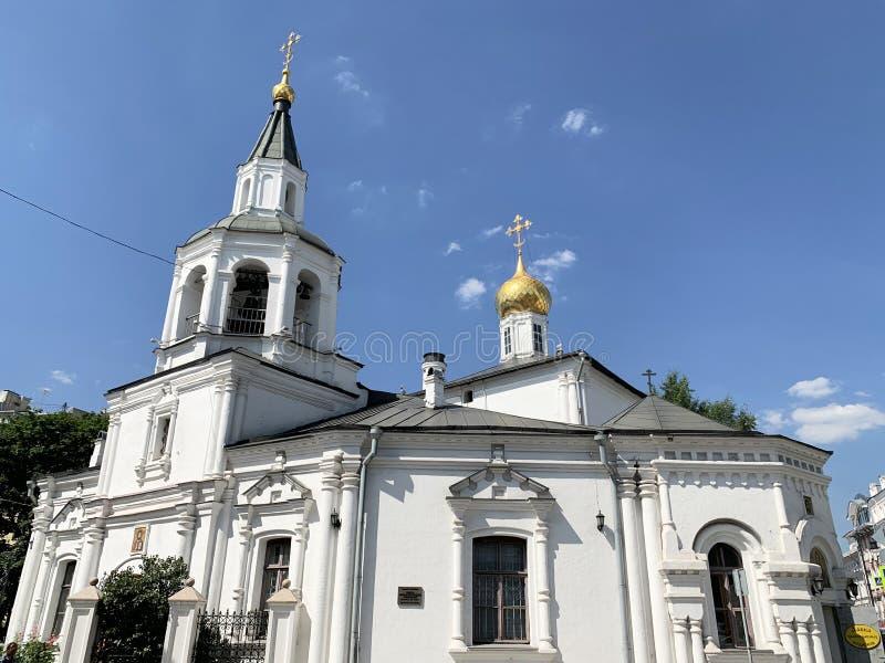 La Russie, Moscou Église de l'acceptation de l'église de Mary Uspenskaya de Vierge Blessed dans Pechatniki en été images libres de droits