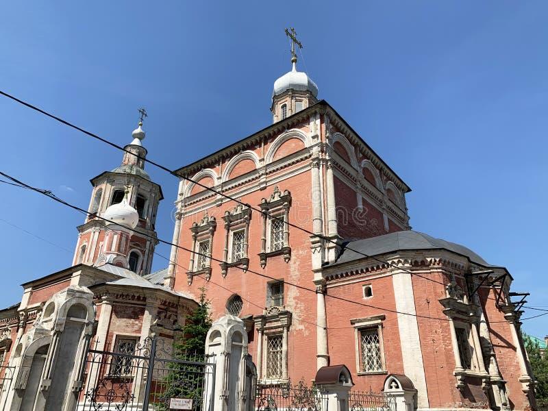 La Russie, Moscou, église de l'entrée de la Vierge Marie dans le temple, pereulok de Barashevsky, 8/2, bâtiment 1 images libres de droits