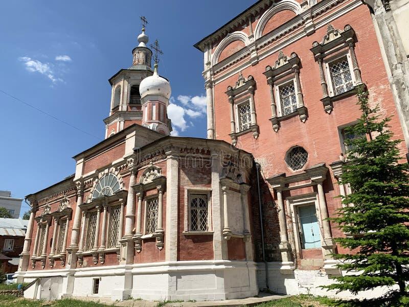 La Russie, Moscou, église de l'entrée de la Vierge Marie dans le temple, pereulok de Barashevsky, 8/2, bâtiment 1 photos libres de droits