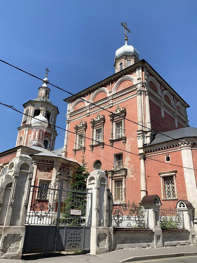 La Russie, Moscou, église de l'entrée de la Vierge Marie dans le temple, pereulok de Barashevsky, 8/2, bâtiment 1 photo stock