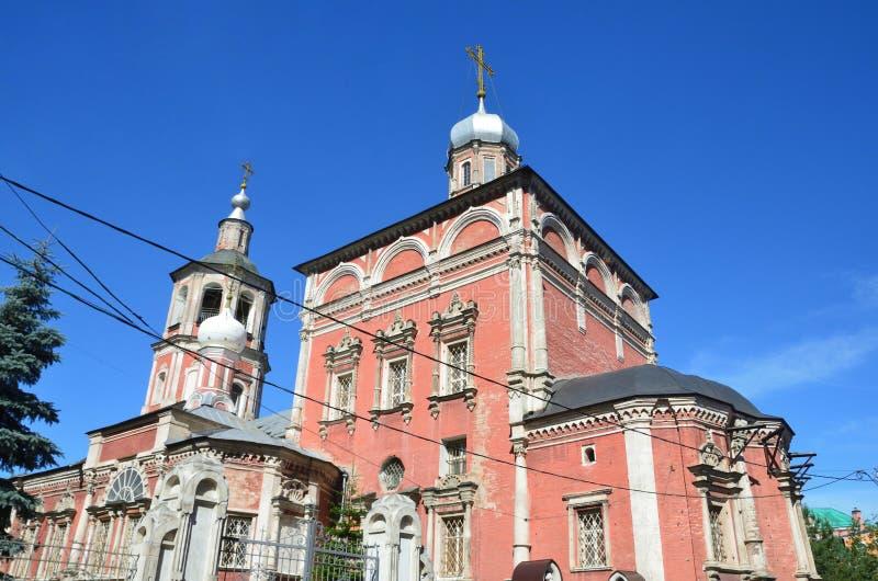 La Russie, Moscou, ?glise de la pr?sentation dans le temple de la Vierge Marie b?nie, pereulok de Barashevskiy, 8/2, b?timent 1 photo stock