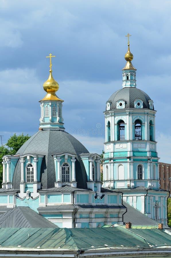 La Russie, Moscou, l'église de Saint-Nicolas de transfiguration dans Zayaitskoye photographie stock libre de droits