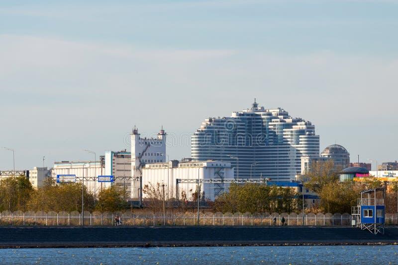 La Russie, Rostov-On-Don - 28 novembre 2018 : Vue panoramique de ville de Rostov On Don images stock