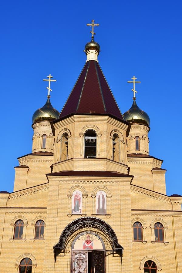 La Russie, la ville de Nevinnomyssk Église de séraphin de St de Sarov sur le boulevard de la paix images stock