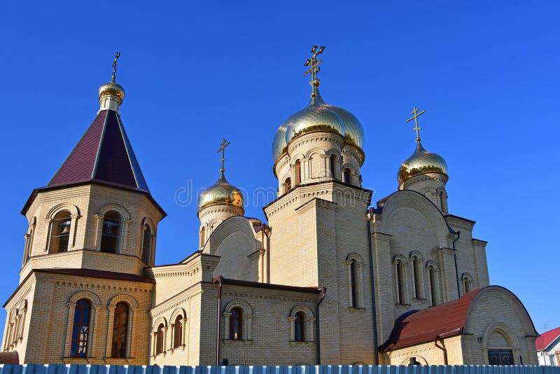 La Russie, la ville de Nevinnomyssk Église de séraphin de St de Sarov sur le boulevard de la paix photo stock