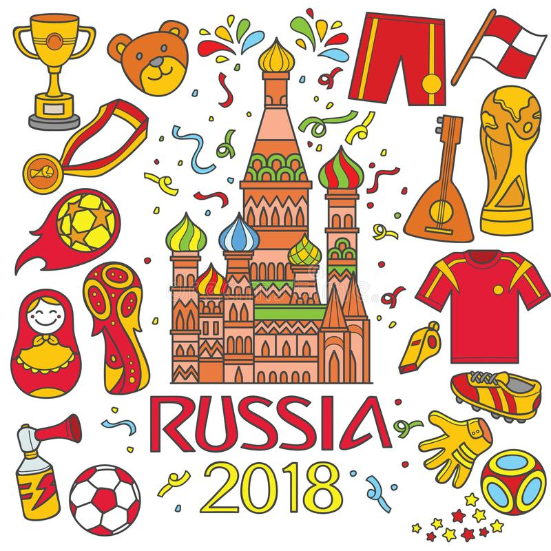 La Russie 2018 Worldcup illustration de vecteur