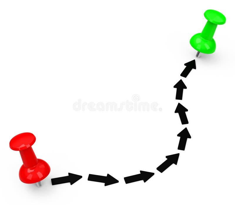 La ruta stock de ilustración