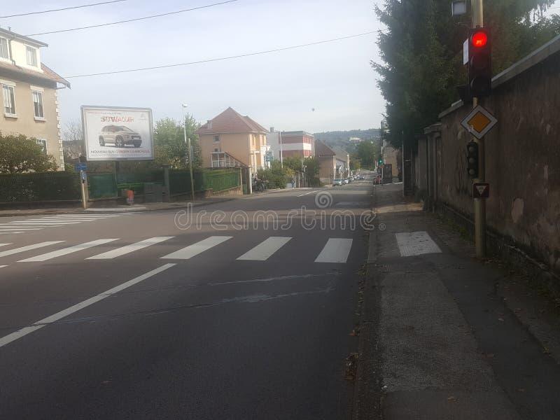 La ruta in Besançon fotografia stock libera da diritti