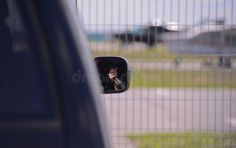 La sécurité du petit aéroport photo stock