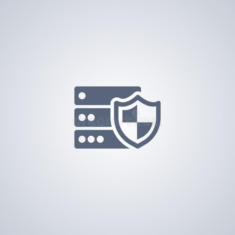 La sécurité, protection de serveur, dirigent la meilleure icône plate illustration de vecteur