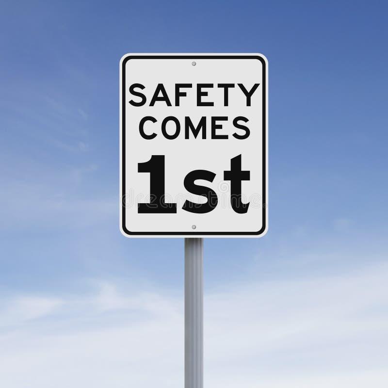 La sécurité vient d'abord image libre de droits