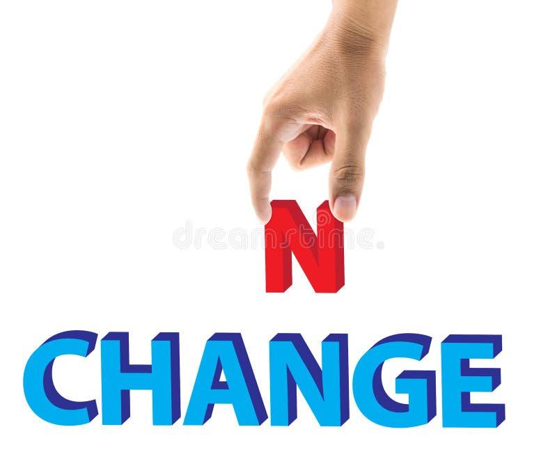 La sélection de doigt des lettres de changement et d'occasion expriment le concept illustration de vecteur