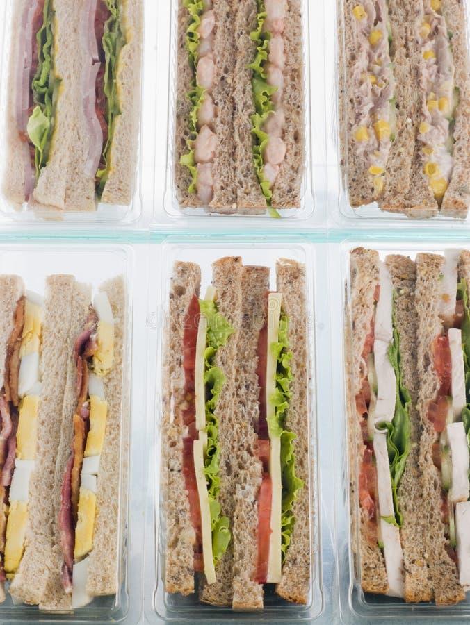 La sélection de emportent des sandwichs photographie stock libre de droits