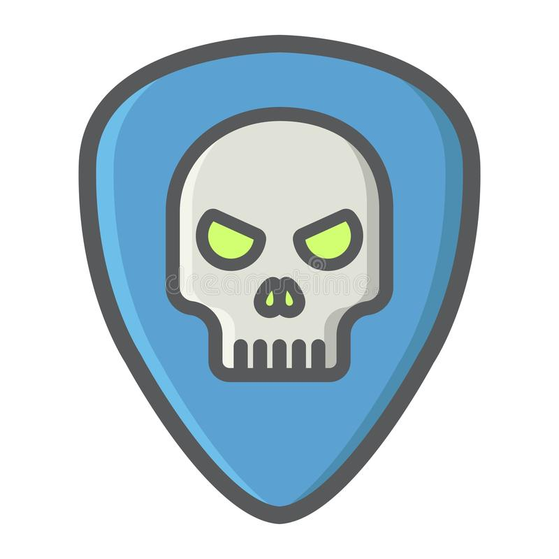 La sélection de guitare avec le crâne a rempli icône d'ensemble, musique illustration de vecteur
