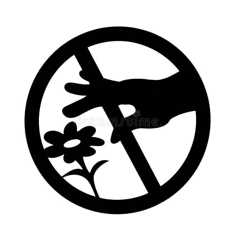 La sélection du ` t de Don les fleurs se connectent la photo blanche de fond illustration de vecteur