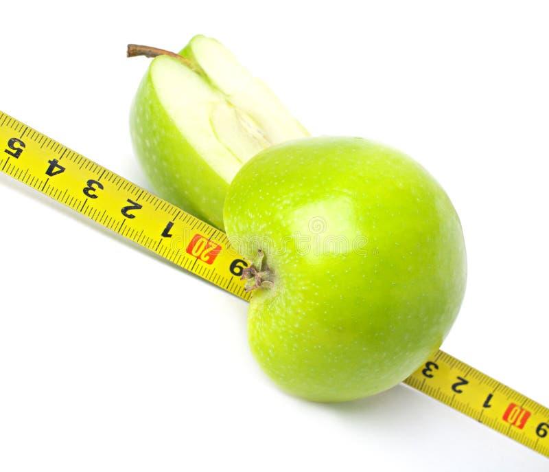 La sélection rigoureuse de la nourriture et contrôlent votre poids photographie stock libre de droits