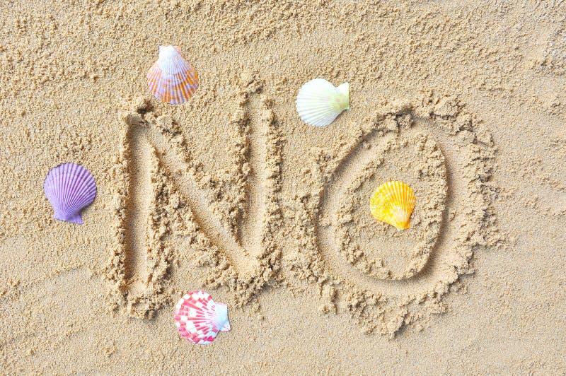 La sabbia esprime NO fotografie stock libere da diritti