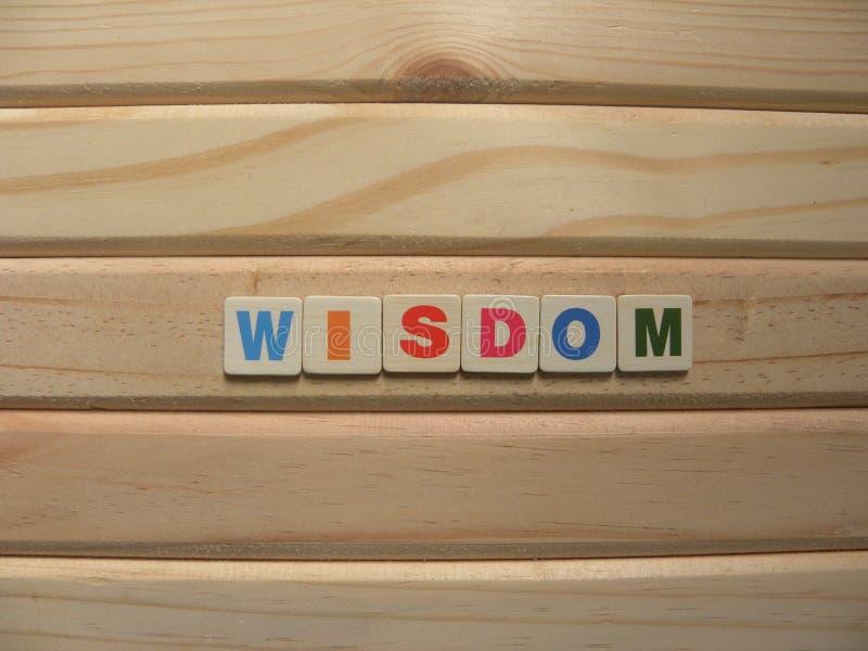 La sagesse du mot sur le bois image libre de droits