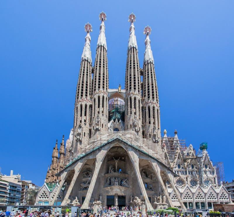 la sagrada Испания famila церков barcelona стоковая фотография