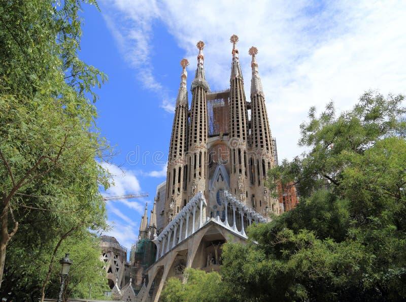 La Sagrada Familia stock afbeelding